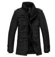 2014 New Fashion Winter Men Thickening Casual Cotton Jacket Outdoors Waterproof Windproof Breathable Sport Coat