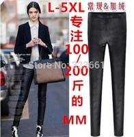 New Women Thickening Leggings punk Casual Snakeskin legging Super Elastic plus-size Leather Pants Adventure american apparel