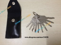 2014 NEW stainless 10pcs Keys Auto Jigglers for Double Sided Lock Pick Set Of Keys Lock Opener Locksmith Tool Freeshipping