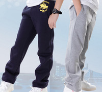 Retial Big size Free shipping Winter thick Straight  pants casual  children boys Sport  Pants Spring Autumn big size 130-170