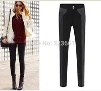 New Women Thickening Leggings punk Casual legging Super Elastic plus-size Leather Pants Adventure american apparel