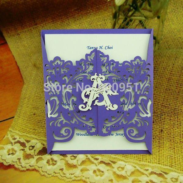 2015Teda FC-003Laser cut Three folded wedding-party-celebration invitation cards RSVP Blank insert plain white envelope(China (Mainland))
