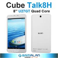 8'' Cube U27gt 3GH Talk8 Talk8H IPS 1280x800 3G Quad Core Android Tablet PC MTK8382 1.3GHz 1GB RAM WCDMA Bluetooth GPS