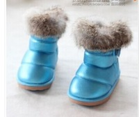 2014 winter baby shoes male female child rabbit fur thickening child snow boots