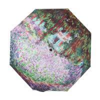 Free shipping fashion landscape pattern folded parasol umbrella painting umbrella