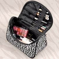 New maleta de maquiagem Cute Women's Travel Makeup bag Zebra pattern professional Cosmetic cases Casual Handbag