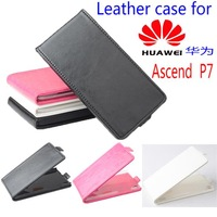Free shipping  Flip up and down  Leather PU case for HUAWEI Ascend P7 case