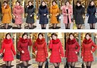 Plus size 5XL New 2014 Fashion Slim Fur Collar Long Winter Jacket Women Hoody winter coat parkas For Women Free shipping B2325