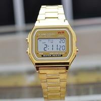 Fashion Classic Brand Designer Unisex Led Watches Luxury Gold Plated Wristwatch Digital Chronograph Clock Alarm Relojes NW1688