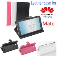 Free shipping  Leather PU phone case for HUAWEI Mate case