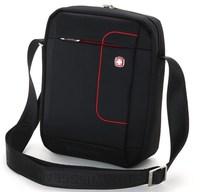 Black Red  casual shoulder bag business  sports bag chest  Korean version of the Swiss Army knife Messenger bag tide ipad