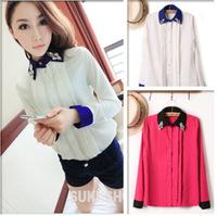 2014 new European style collar shirt sk066629
