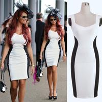 Women summer dress 2014 new Fashion Elegant Slim Bodycon Dress fancy Casual Evening Pencil Dress sexy patchwork office dress