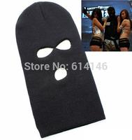Special Forces Unisex Warm Hat Soldier Three Bores CS Game Cap Face Masks Men And Women Black Hat Caps