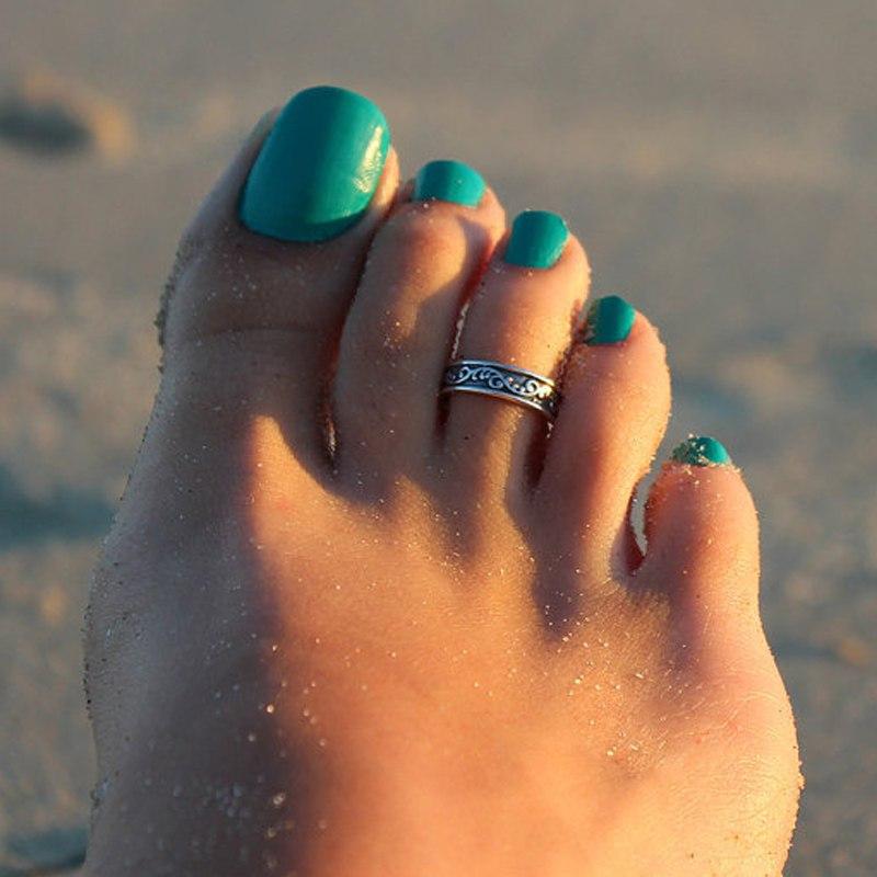 1PCS Womens Lady Personality Stylish Chic Antique Silver Toe Ring Foot Beach Jewelry Hotsale Free Shipping
