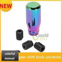 New  Manual Gear Shift Knob Car Gear Universal JDM MT Neo Color Chrome Car Shifter Stick