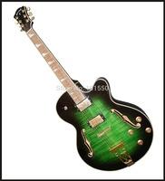 yunzhi half handmade green jazz guitar