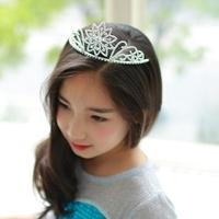 Fro Elsa Queen Crown Plum Hair Jewelry Wholesale Children Elsa Crystal Crown Elsa Snowflake Crown 10pcs/lot Free Shipping
