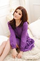 2014 Summer Dot Casual Women Pregnant Dresses Maternity Elegant Stitching Skirt Dress Purple Black