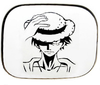 Free Shipping Cool Car Stickers, Pirates Car Decal ,Luffy Waterproof On Rear Windshield Door Tank Lid Sticker