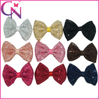 """Free Shipping 30 Pcs/lot 4"""" Sequin Hair Bow With Clip,Handmade Bling Hair Bow For Baby,Kids Sequin Hair Bow CNHB14092301"""