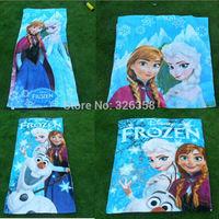 Wholesale 5pcs/lot Frozen Towels/children princess Elsa Anna bath towel/kids 100% cotton Olaf beach towels,120*63cm
