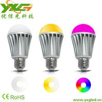 Modern home lighting 7.5W RGBW Aluminum WIFI led light 110V 220V Remote control lamp Free shipping