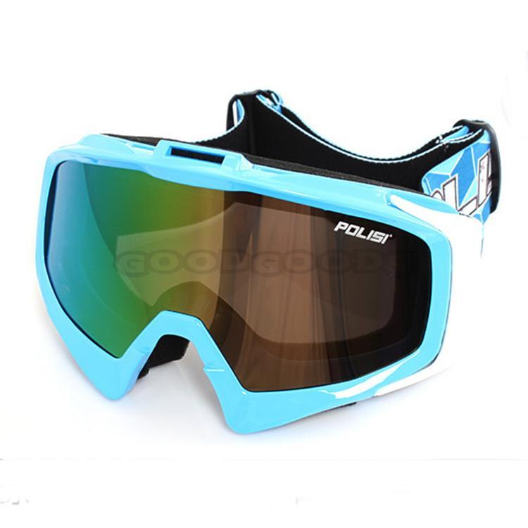 Free Sample! New POLISI Ski Goggles Sunglasses Snowboard Snow UV400 Glasses Skiing Motocross O ...