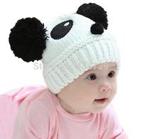 Fashion Lovely Animal Panda Baby Hats And Caps Kids Boy Girl Crochet Beanie Hats Winter Cap Keep Warm