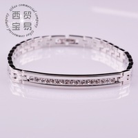 Free shipping CZ Diamond Micro Pave Chain Bracelets & Bangles Gold Plated Crystal Jewelry For Men and Women bijouterie sl007