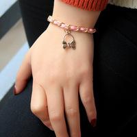Korean Butterfly Bracelet small accessories manufacturer direct pink series are exquisite bracelet bracelet