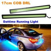 2X Ultra-thin 15W 17cm COB DRL New Car Daytime Running Light 100% Waterproof Fog car lights IP68 Aluminum Alloy