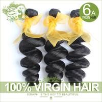 Unprocessed 6A Malaysian Virgin Hair Natural Black Color 3/4Pcs Lot Malaysian Loose Wave Cheap hair bundles Human Hair Extension