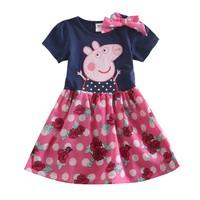 Peppa Pig girl Dress Kid Clothing Children Wear NOVA Summer Party Evening dress for Girls Toddler Princess Dress baby girl H5009