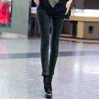 Woman Jeans Brief Black Skinny Pencil Pants Autumn Winter Good Quality Slim Casual All-Match Leggings Denim Trousers 308