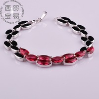 5 colors Fashion high-grade ladies bracelet leaf shape Noble Exquisite rhinestone crystal 18K free shipping sl009