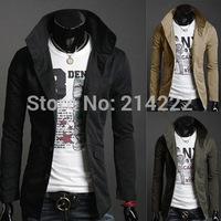 Wholesale Men's Slim jacket standing high collar Slim Korean men jacket single-breasted casual coats jackets men