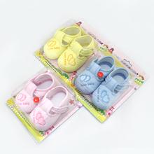 lindo corazón impresión bebé zapatos bebé niño niña anti- deslizamiento algodón suave envío gratis zapatillas de suela(China (Mainland))
