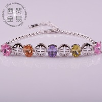 5 colors Free shipping high quality ladies rhinestone Plated Crystal Jewelry For Men and Women bracelet sl008