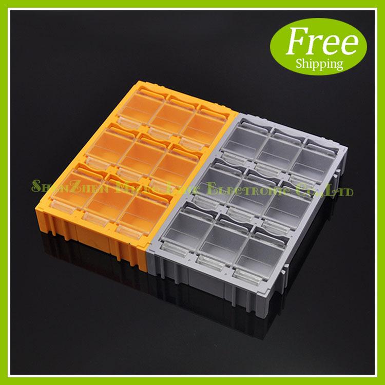 SMD SMT Electronic Component Mini Storage Box ESD IC Component Box Antistatic Component Box 18 in 1 Jewelry Storaged Case(China (Mainland))