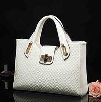 Fashion women handbag large apace crossbody bag high quality PU messenger bag knitting OL handbag 2015 solid women bolsas