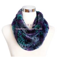 BG30431 Colorfur Genuine Rex Rabbit Fur Scarf Wholesale Retail Real Fur Scarves Women Winter Scarf