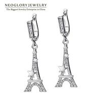 Neoglory Auden Rhinestone Platinum Plated Tower Design Fashion Drop Earrings for Women 2014 New Brand Fashion Jewelry