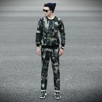 2014 sweatshirts men plus size korean fashion warm waterproof slim-fit sports clothing for men winter wear neoprene set Y10501