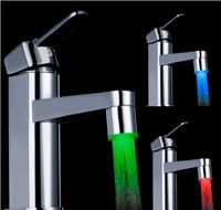 New Light Temperature Control Sensor Water Glow LED Faucet Light with 3 Color Changing bathroom accessories High Quality #50vc