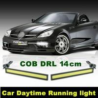 1pair (2PCS) Universal 14cm DC12V Ultra-thin 14W COB Chip LED Car DRL Daytime Running Fog Light Lamp White/Blue/Crystal Blue