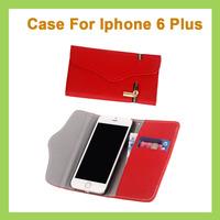 New Arrivel 3 Colors Unique Zipper PU Leather Wallet Magnetic Flip Cellphone Case Cover Mobile Phone Cover for iPhone 6 Plus