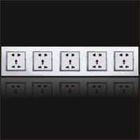 hot sell Wall Power  switch & Socket  feichi series  new design for hotel use 5gang 25pins multi