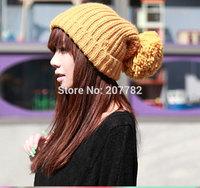 autumn Winter Cap Women Warm Woolen Knitted Fashion Hat For Gilrs Cap Skullies Slouch Woman hat Baggy Beanie Crochet Hat