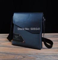2014 Free Shipping Men's Casual Business Messenger Bag PU Leather Shoulder Bag Leather Briefcase Black Brown Blue BG1003